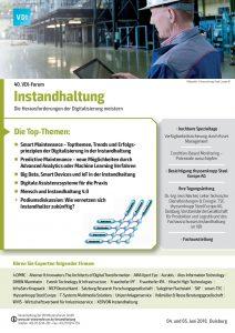 Programm VDI-Forum Instandhaltung Deckblatt
